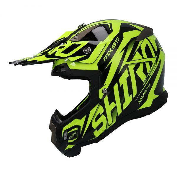 Casco para moto de motocross MX-917 THUNDER Shiro