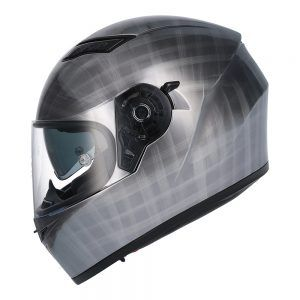Casco de moto integral  SH-600 SCRATCHED CHROME Shiro