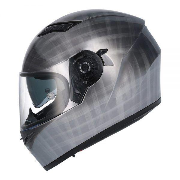 Casco de moto integral SH-600 SCRATCHED CHROME Shiro