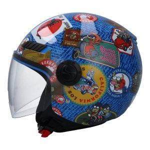 Casco para moto jet  SH-62 TRAVELSTAMPS Shiro