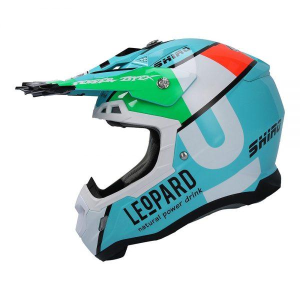 Casco para moto de motocross  MX-917 LEOPARD Shiro