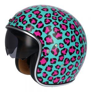 Casco para moto jet  SH-235 ANIMAL PRINT Shiro
