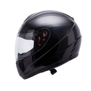 CASCO MT THUNDER INFANTIL SOLID NEGRO BRILLO