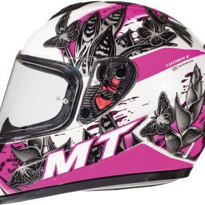 CASCO MT THUNDER INFANTIL BREEZE D8 ROSA PERLA BRILLO S