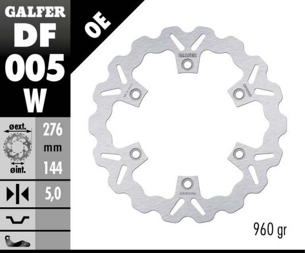DISC WAVE FIXED 276x5mm