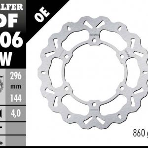 DISC WAVE FIXED 296x4mm