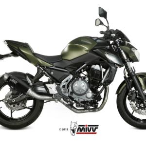 MIVV - GP PRO BLACK INOX NEGRO - KAWASAKI Z 650 2017>2019