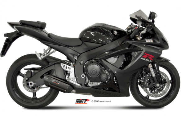 MIVV - SUONO BLACK INOX NEGRO - SUZUKI GSX-R 600 2006>2007