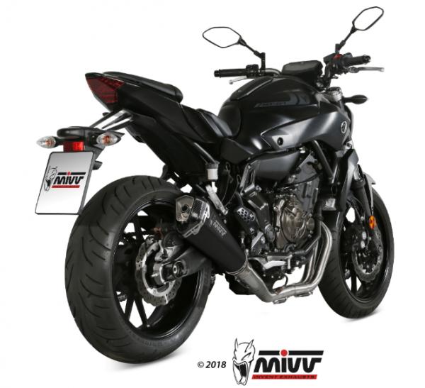 MIVV - DELTA RACE BLACK INOX NEGRO - YAMAHA MT-07 2014>2020