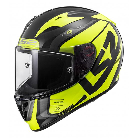 LS2 FF323 ARROW C STING BLACK H-V YELLOW