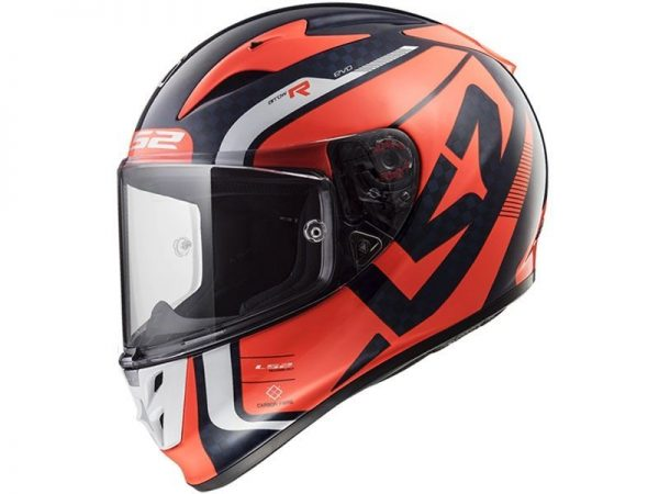 LS2 FF323 ARROW C STING BLUE FLUO ORANGE