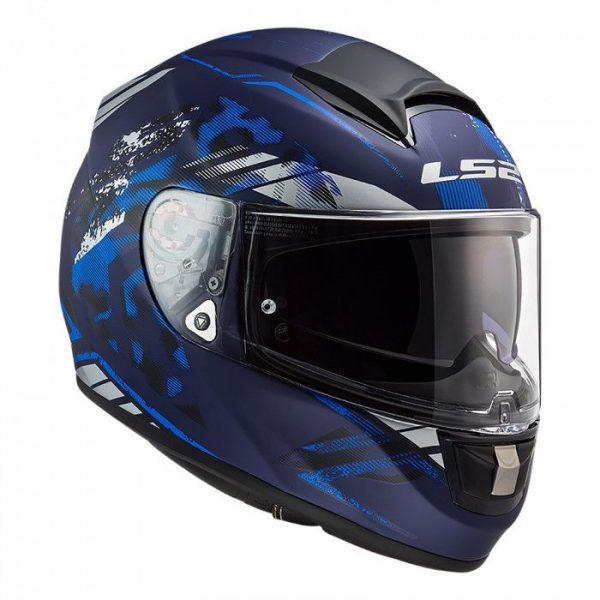 LS2 FF397 VECTOR EVO STENCIL MATT BLUE
